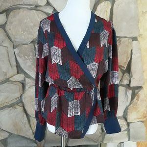 NWT! BCBG Maxazria Kimono Style Chevron Bluse